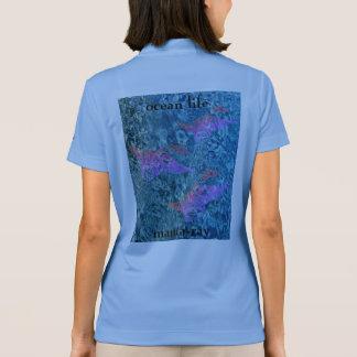海の生命マンタ光線 ポロシャツ