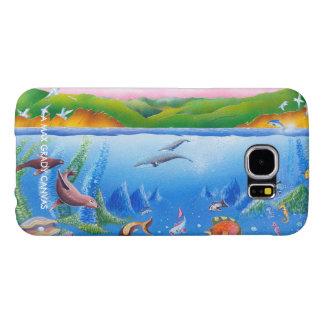 海の生命: Samsungの銀河系S6の箱 Samsung Galaxy S6 ケース