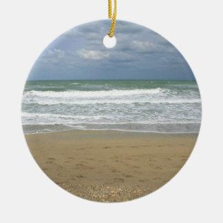 海の砂の空は背景衰退しました セラミックオーナメント