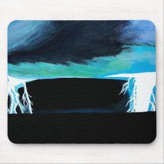 海の絵画の芸術のマウスパッドの稲妻の嵐 マウスパッド