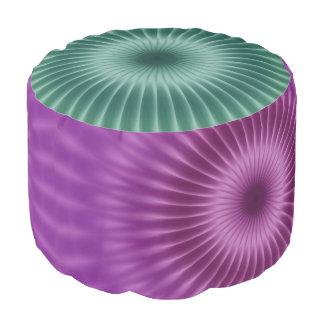 海の緑の紫色のかわいらしい光線 + あなたのアイディア プーフ