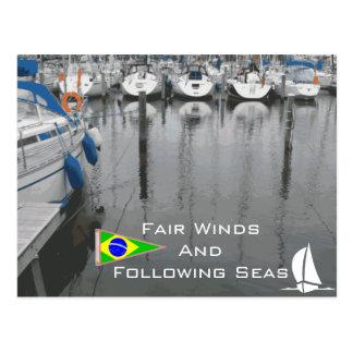 海の航海のなことわざブラジルに従がって公平な風 ポストカード