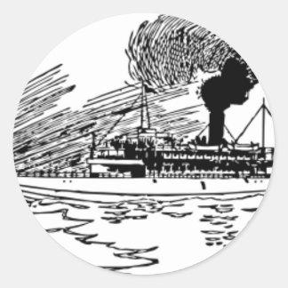 海の船 ラウンドシール
