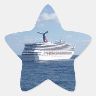 海の船 星シール