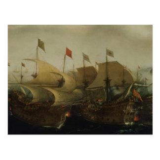 海の行為、多分カディス1596年の戦い ポストカード