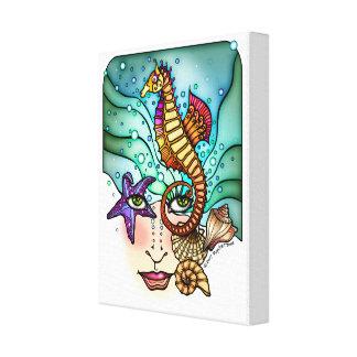 海の視野の海の芸術 キャンバスプリント