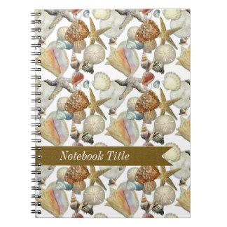 海の貝のヒトデのビーチジャーナルノート ノートブック