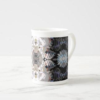 海の貝の抽象芸術パターン ボーンチャイナカップ