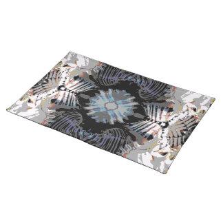 海の貝の抽象芸術パターン ランチョンマット