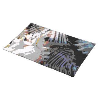 海の貝の抽象芸術 ランチョンマット