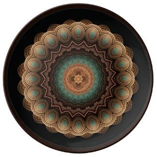 海の貝の曼荼羅の磁器の装飾のプレート 磁器プレート