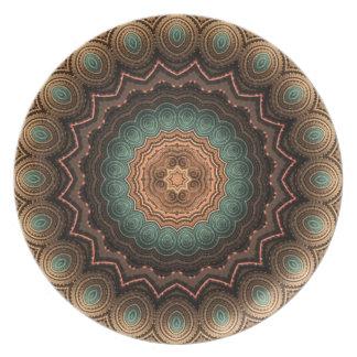 海の貝の曼荼羅の装飾的なプレート プレート
