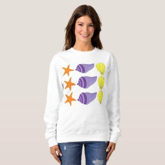 海の貝の貝殻のコンシュのヒトデのビーチの海 スウェットシャツ