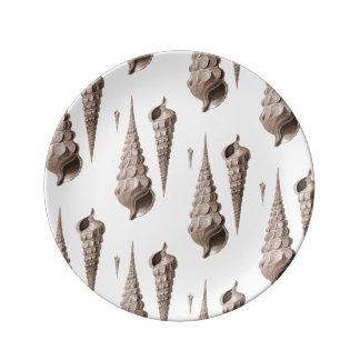 海の貝のBeachcomberの沿岸装飾のデザイン 磁器プレート
