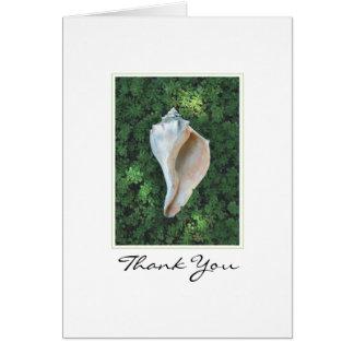 海の貝はメッセージカード感謝していしています カード