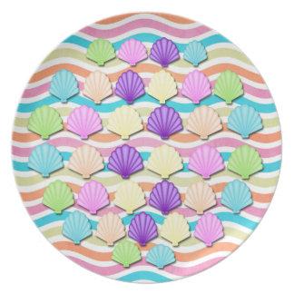 海の貝 プレート