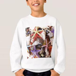 海の貝ansのヒトデの写真の上で閉めて下さい スウェットシャツ