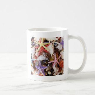 海の貝ansのヒトデの写真の写真の上で閉めて下さい コーヒーマグカップ