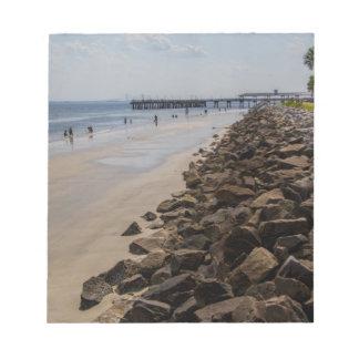 海の障壁の大西洋ジョージアのビーチ ノートパッド