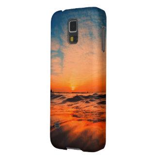 海の電話箱の上の美しいsunrising galaxy s5 ケース