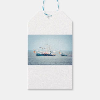 海の青いエビのボート ギフトタグ