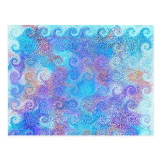海の青カール 葉書き