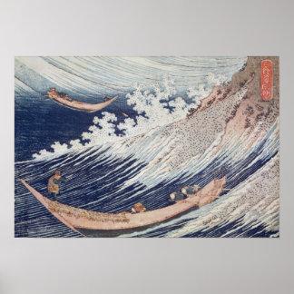 海の2つの小さい漁船 ポスター
