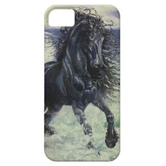 """海の""""Friesian嵐""""の黒の種馬 iPhone SE/5/5s ケース"""