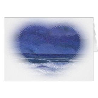 海のCricketDianeの海の芸術の穏やかな夜 カード