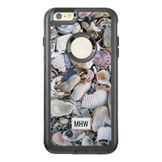 海はカスタムなモノグラムの電話箱を殻から取り出します オッターボックスiPhone 6/6S PLUSケース