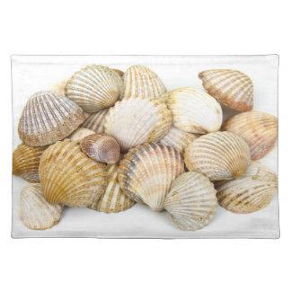 海はコラージュを殻から取り出します ランチョンマット