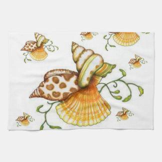 海は台所手タオルを殻から取り出します キッチンタオル