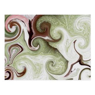 海は貝のSeafoamの緑のピンクの白い球を海綿で洗います ポストカード