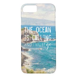 海は-マウイの海岸|の電話箱呼んでいます iPhone 8/7ケース