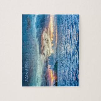 海を渡るBora Boraの日没 ジグソーパズル