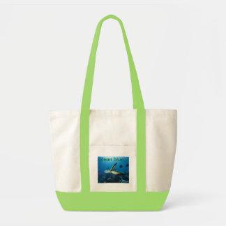 海カメ、オーシャンブルー… トートバッグ
