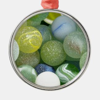 海ガラスの大理石 メタルオーナメント