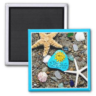 海ガラス、おもしろいな磁石を絵を描くビーチのガラス芸術 マグネット