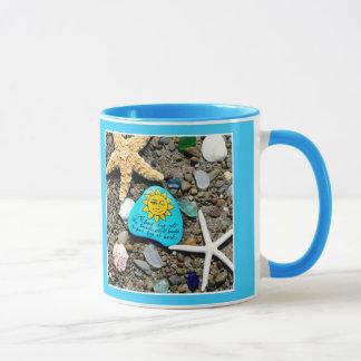 海ガラス、ビーチのガラスおもしろいな芸術のマグ マグカップ