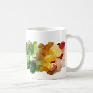 海ガラス、ビーチガラスのマグの虹 コーヒーマグカップ