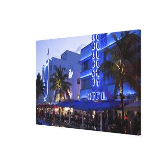 海ドライブ、南ビーチ、Miami Beach、 キャンバスプリント