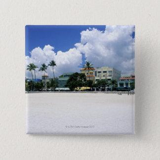 海ドライブ、Miamの南ビーチ、マイアミ-フロリダ 缶バッジ