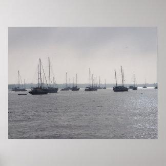 海ポスターFLのセントオーガスティンフロリダのボート ポスター