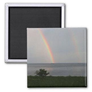 海上の二重虹 マグネット