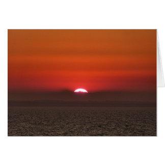 海上の日没 カード