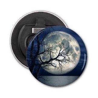 海上の月が付いている3D景色の背景 栓抜き