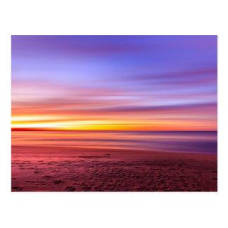 海上の紫色の空 ポストカード