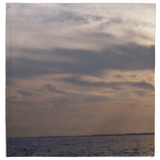 海上の薄暗がりの空 ナプキンクロス