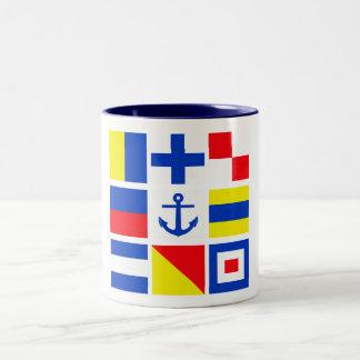海上マグ-スタイル及び色を選んで下さい ツートーンマグカップ