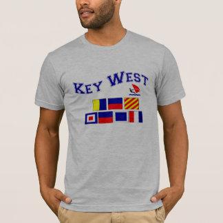 海上旗が付いているKey West Tシャツ